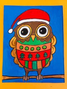 Ugly Kersttrui.Schattige Kerstuiltjes Met Foute Kersttrui Maken